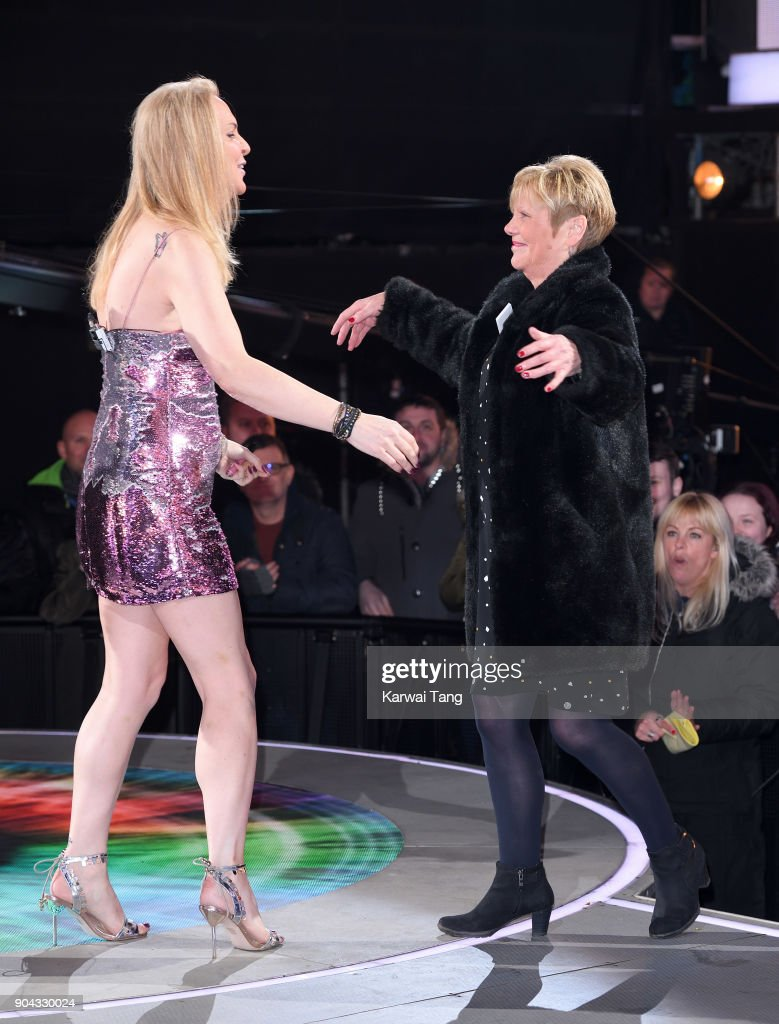 India Willoughby and her mother during the Celebrity Big Brother live eviction at Elstree Studios on January 12, 2018 in Borehamwood, England.