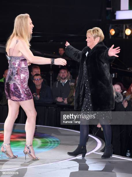 India Willoughby and her mother during the Celebrity Big Brother live eviction at Elstree Studios on January 12 2018 in Borehamwood England