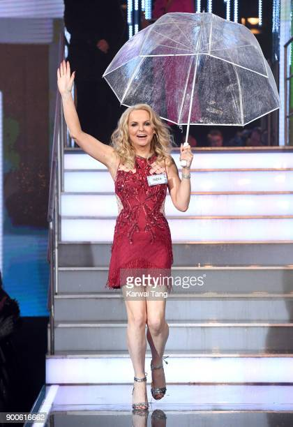 India Willoughby enters the Celebrity Big Brother house on launch night at Elstree Studios on January 2 2018 in Borehamwood England