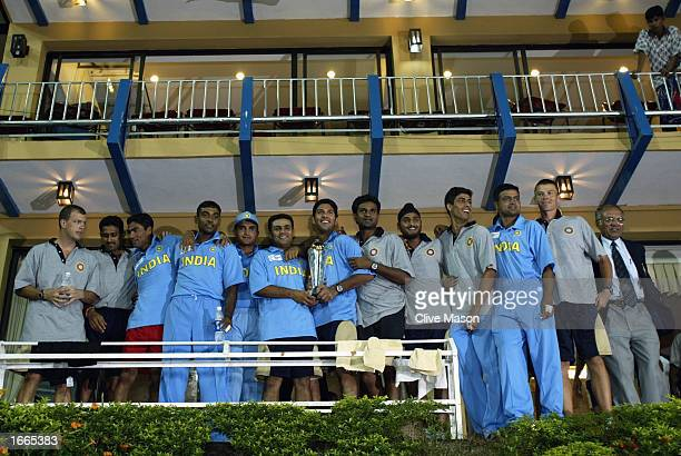 India with the trophy after the rescheduled ICC Champions Trophy final between Sri Lanka and India at the R Premadasa Stadium in Colombo Sri Lanka on...