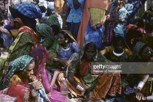 India Women of the Kholi tribe Ravechi Fair Gujarat