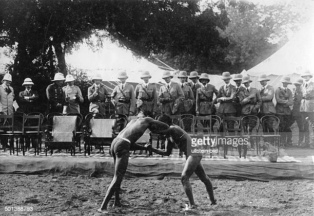 wrestling match Among the audience the German Crown Prince Friedrich Wilhelm 1911
