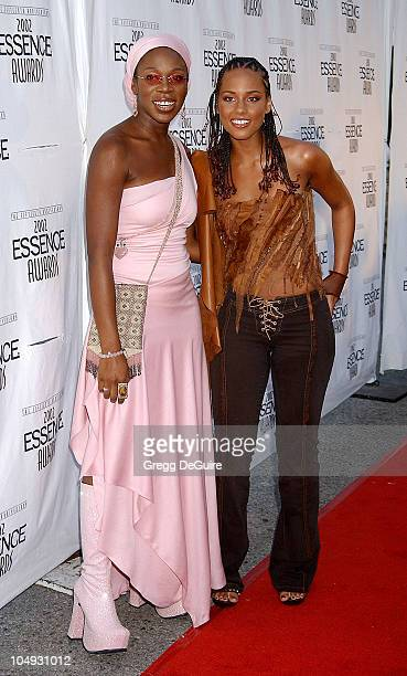 IndiaArie Alicia Keys during 2002 Essence Awards Arrivals at Universal Amphitheater in Universal City California United States
