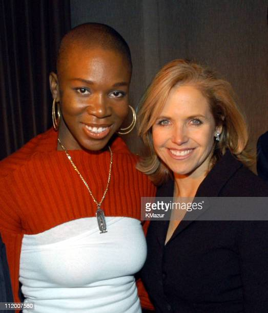 India.Arie and Katie Couric during The NCCRA Fundraiser Hosted by Katie Couric at the Esquire Apartment 2003 at Esquire Apartment, Trump World Tower...