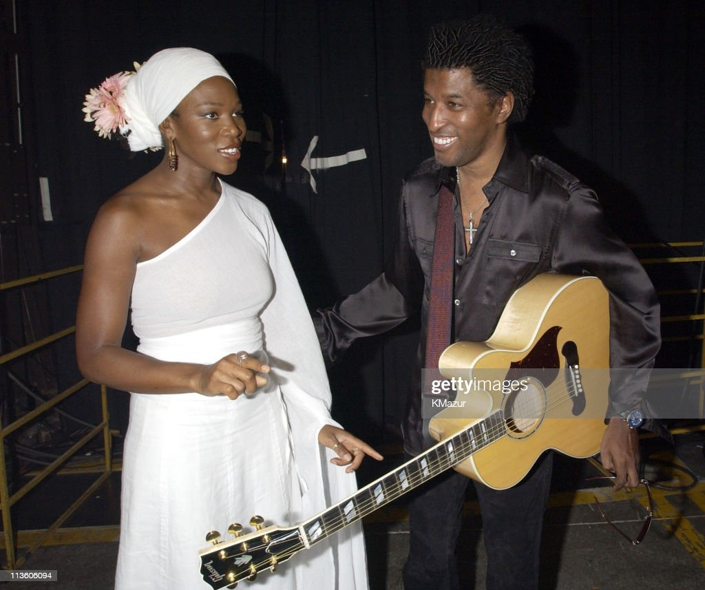 India.Arie and Kenny 'Babyface' Edmonds during The Andre Agassi Charitable Foundation's 7th 'Grand Slam for Children' Fundraiser - Backstage and Audience at The MGM Grand Hotel and Casino in Las Vegas, Nevada, United States.