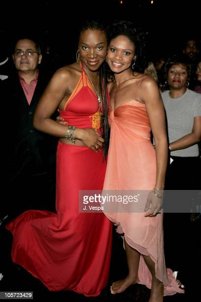 IndiaArie and Kimberly Elise during Tyler Perry's Diary of a Mad Black Woman Los Angeles Premiere After Party at The Sunset Room in Los Angeles...