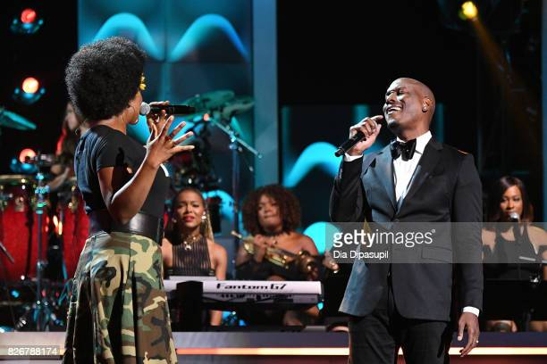 IndiaArie and Tyrese perform onstage during Black Girls Rock 2017 at NJPAC on August 5 2017 in Newark New Jersey