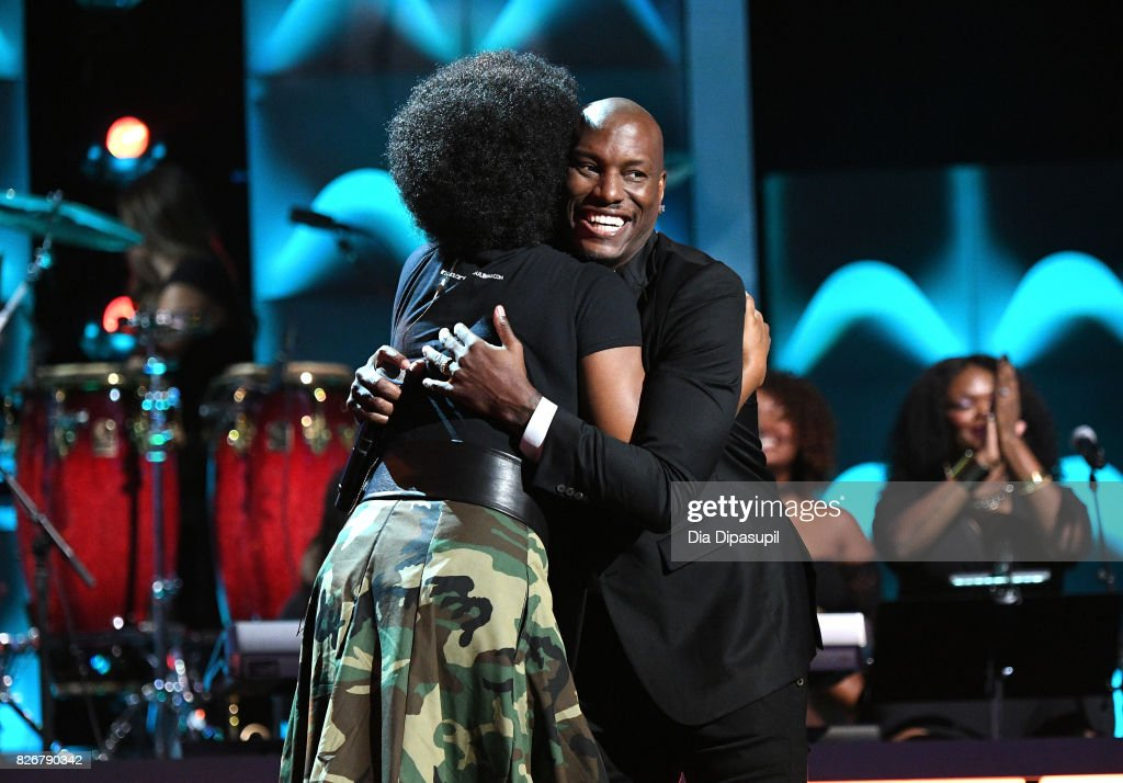 India.Arie (L) and Tyrese perform onstage during Black Girls Rock! 2017 at NJPAC on August 5, 2017 in Newark, New Jersey.