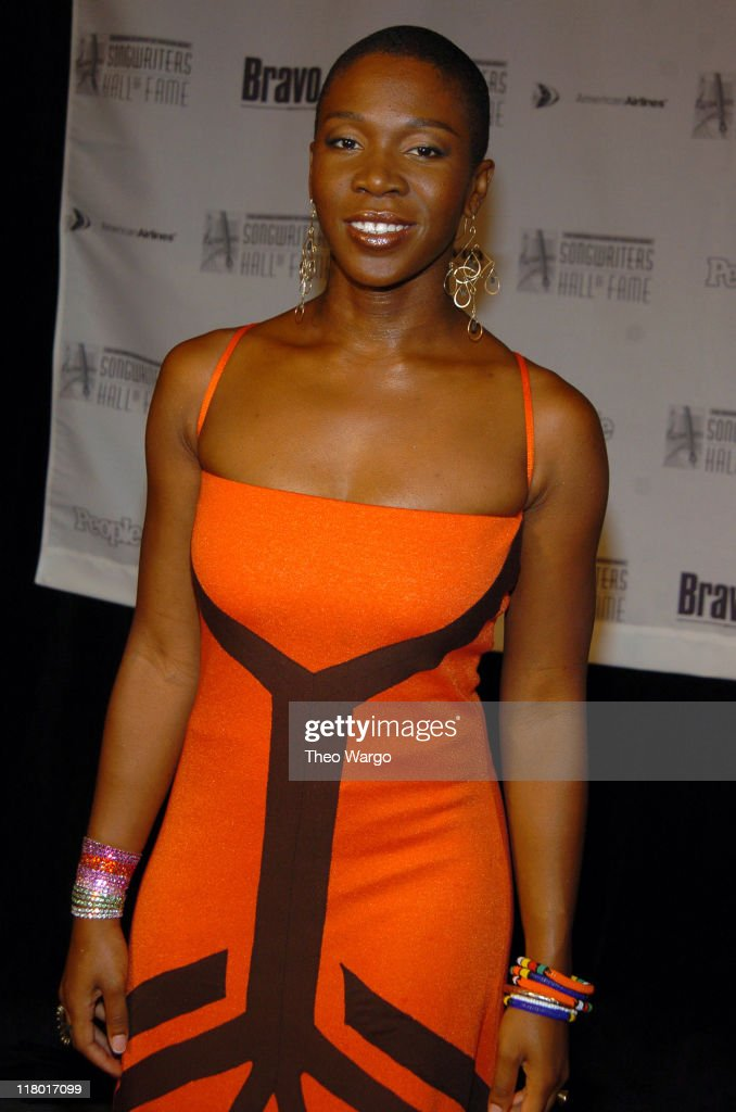 India.Arie during 35th Annual Songwriters Hall of Fame Awards Induction - Arrivals at Mariott Marquis Hotel in New York City, New York, United States.