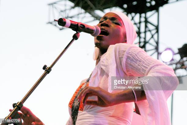 India.Arie during Nice Jazz Festival 2004 - Day 8 - India.Arie at Cimiez Park and Arena in Nice, France.