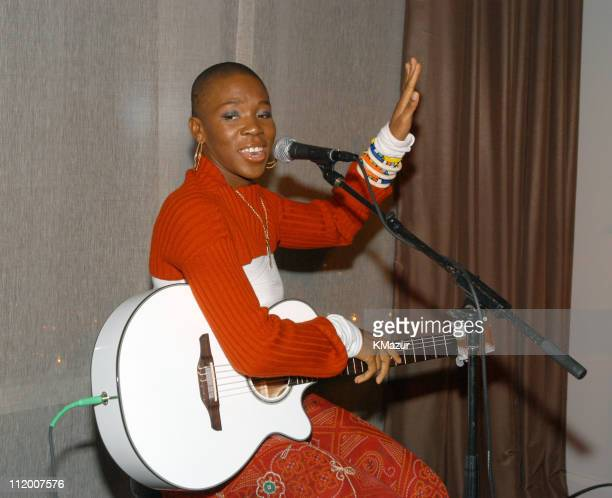 India.Arie during The NCCRA Fundraiser Hosted by Katie Couric at the Esquire Apartment 2003 at Esquire Apartment, Trump World Tower in New York City,...