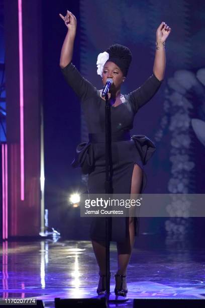 IndiaArie performs onstage at Black Girls Rock 2019 Hosted By Niecy Nash at NJPAC on August 25 2019 in Newark New Jersey