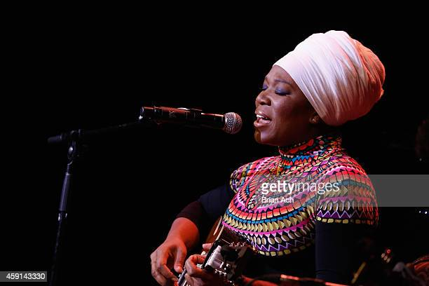 IndiaArie performs onstage at the ASCAP Centennial Awards at Waldorf Astoria Hotel on November 17 2014 in New York City