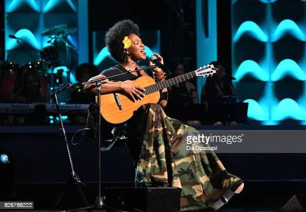 IndiaArie performs onstage during Black Girls Rock 2017 at NJPAC on August 5 2017 in Newark New Jersey