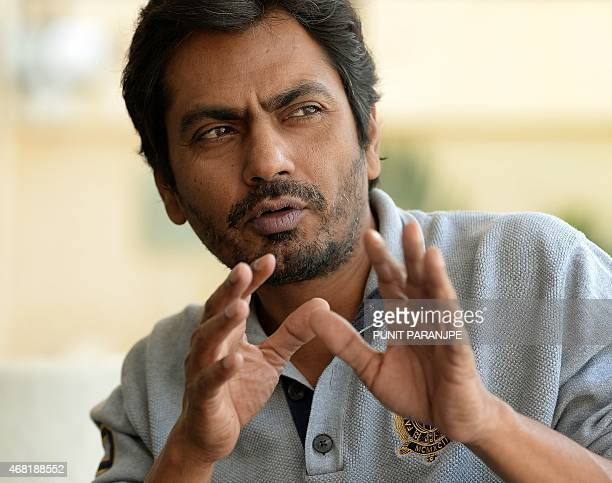 IndiaBollywoodentertainmentfilmSiddiquiINTERVIEW by Udita Jhunjhunwala This photo taken on March 4 2015 shows Bollywood actor Nawazuddin Siddiqui...