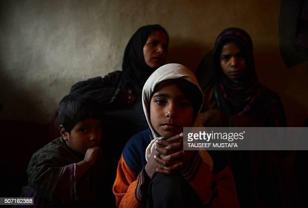 IndiaKashmirPakistanunrestjusticeFOCUS by Parvaiz BUKHARI This photo taken on December 22 2015 shows Begum Jan with some of her children at their...