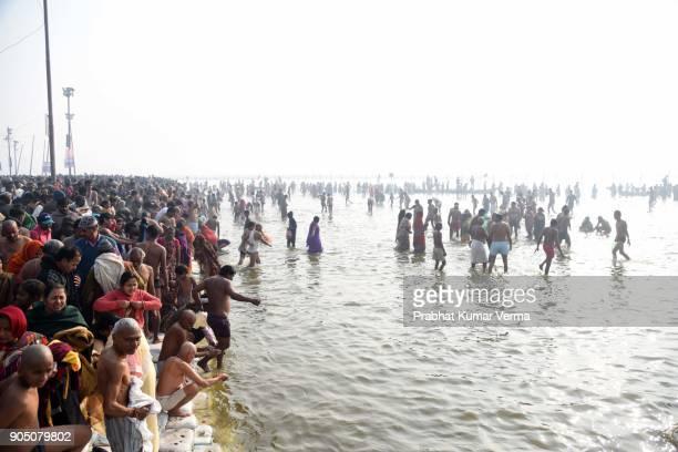 india-makar sankranti festival - prayagraj stock pictures, royalty-free photos & images