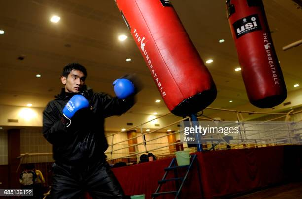 Indian ace boxer Shiva Thapa photographed at NSI Patiala