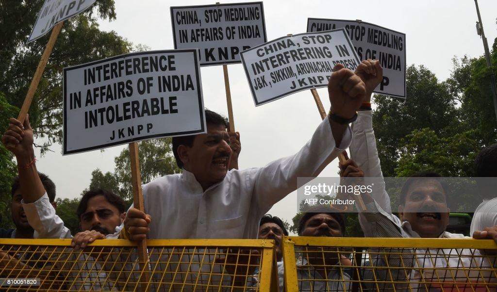 INDIA-CHINA-BHUTAN-DIPLOMACY-PROTEST : News Photo
