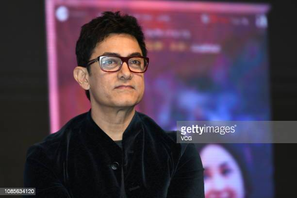 Indian actor Aamir Khan promotes film 'Thugs of Hindostan' on December 22, 2018 in Shanghai, China.