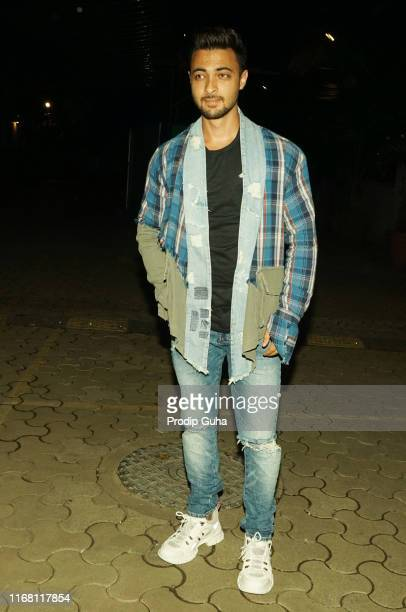 Indian actor Aayush Sharma attends the film Screening 'Batla House on August 142019 in Mumbai India