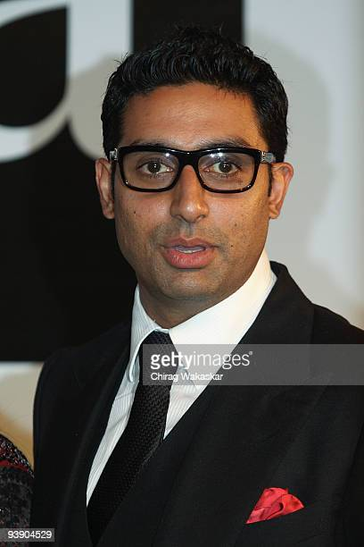 Indian actor Abhishek Bachchan attends the Premiere of Paa held at Big Cinemas on December 3 2009 in Mumbai India