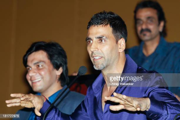 Indian actor Akshay Kumar attends the press conference of bollywood movie 'Blue' held at Hotel Renaissance on March 06 2009 in Bombay India