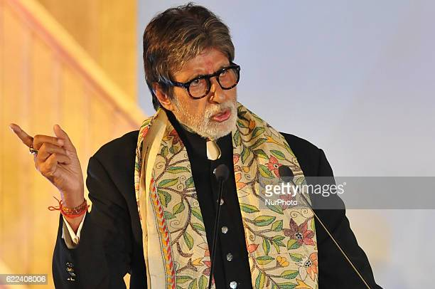 Indian Actor Amitabh Bachchan addressing during the 22nd Kolkata International Film Festival Inauguration ceremony at Kolkata Netaji Indoor Stadium...