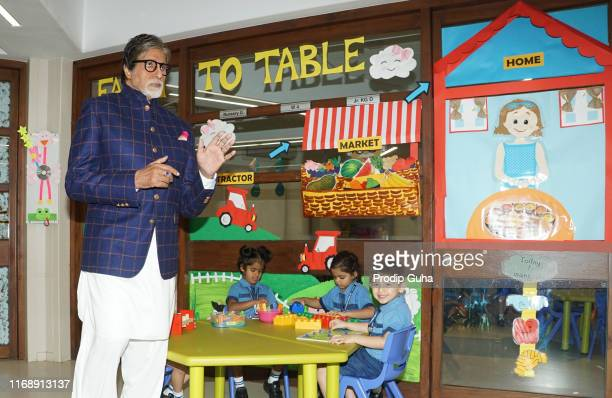 Indian actor Amitabh Bachchan attends the Banega Swasth India initiative launch on August 19 2019 in Mumbai India