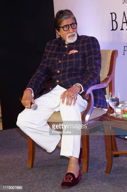 Indian actor Amitabh Bachchan attends the nonconformist Memory of Balraj Sahni legendary actor Balraj Sahni's first ever biography authored by his...