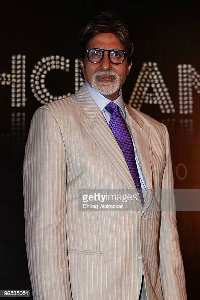 Indian actor Amitabh Bachchan attends the press conference to announce the launch of Inside India's 'Bachchan Bol' phone service held at Hotel...
