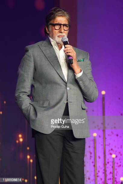 Indian actor Amitabh Bachchan attends the super shehenshah meet on June12 2019 in Mumbai India