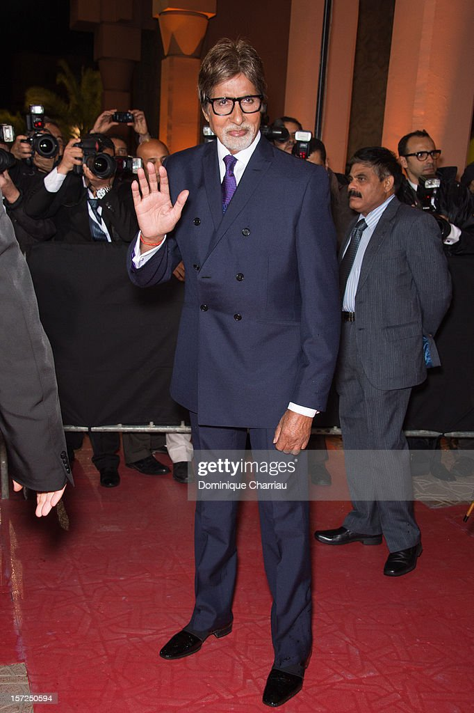 Indian actor Amitabh Bachchan Attends the 'Touch Of The Light' Opening Film of the 12th Marrakech International Film Festival on November 30, 2012 in Marrakech, Morocco.