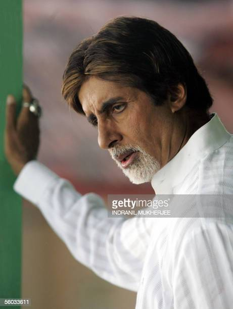 Indian actor Amitabh Bachchan during a polio eradication awareness message shooting in Mumbai 30 October 2005 Bachchan dismissive of the 'world's...