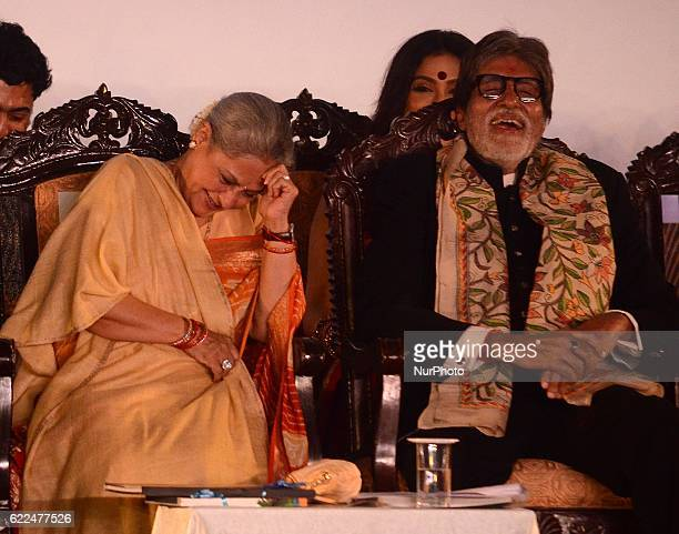 Indian actor Amithabh Bachchan and Jaya Bachchan participated in the inauguration of the 22nd Kolkata International Film Festival in Kolkata India on...