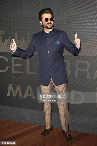 Indian actor Anil Kapoor attends the 17th International Indian Film Academy awards press conference at the Retiro Park on March 14, 2016 in Madrid,...
