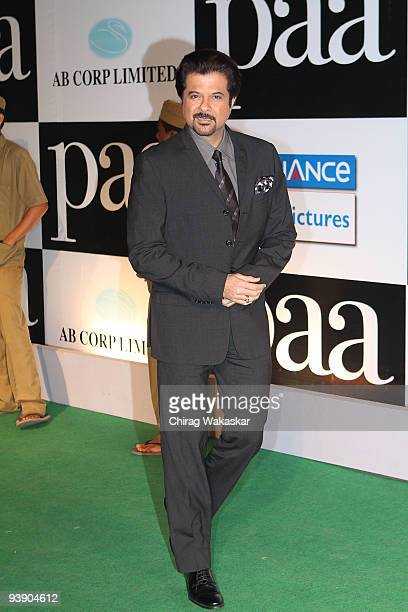 Indian actor Anil Kapoor attends the Premiere of Paa held at Big Cinemas on December 3 2009 in Mumbai India