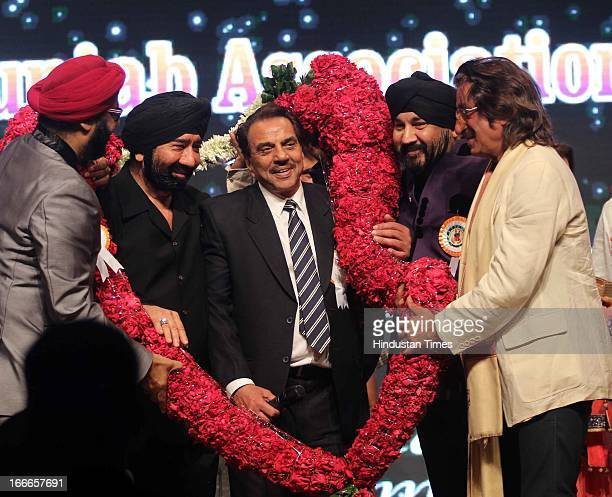 Indian actor Dharmendra who completed 50 years in Indian cinema felicitated at Baisakhi Celebration cohosted by G S Bawa and Punjab Association Of...