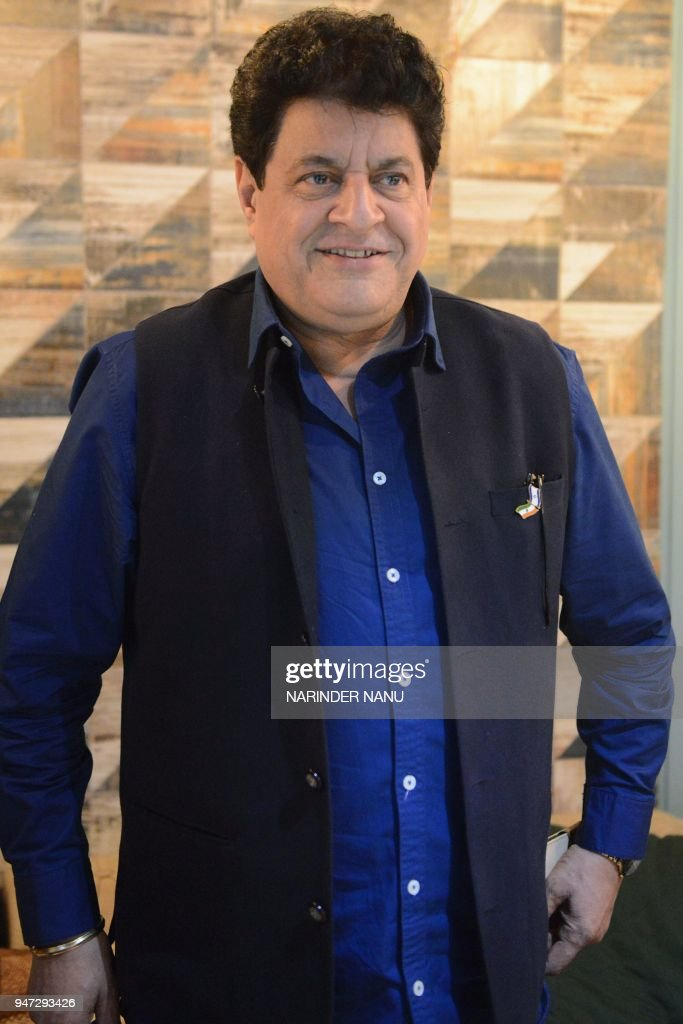 Indian actor Gajendra Chauhan attends a promotional event in Amritsar on April 16 2018 / AFP PHOTO / NARINDER NANU