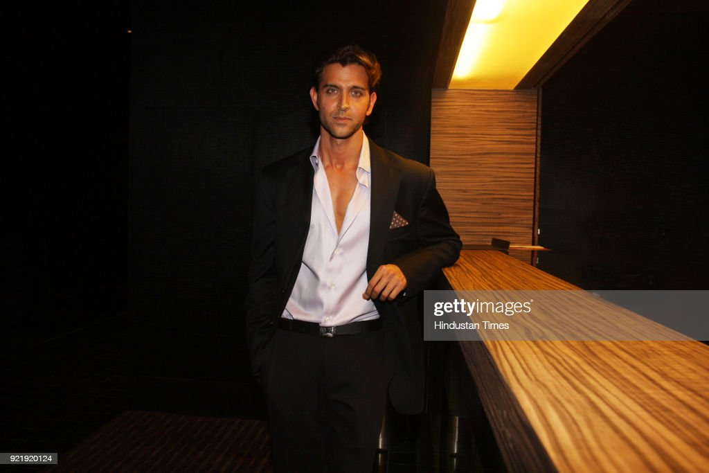 Indian actor Hrithik Roshan poses during a profile shoot in New Delhi.