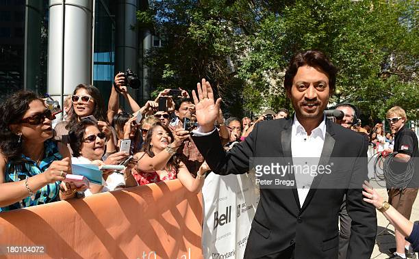 Indian actor Irrfan Khan arrives at the Premiere of The Lunchbox during the 2013 Toronto International Film Festival at Roy Thomson Hall on September...