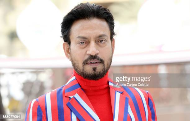 Indian actor Irrfan Khan attends a photocall on day three of the 14th annual Dubai International Film Festival held at the Madinat Jumeriah Complex...