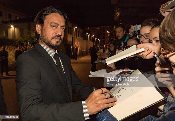 Indian actor Irrfan Khan attends the INFERNO World Premiere Red Carpet at the Opera di Firenze in Florence Italy 8th October 2016