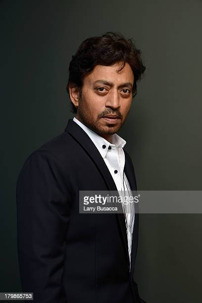 Actor Irrfan Khan of 'The Lunchbox' poses at the Guess Portrait Studio during 2013 Toronto International Film Festival on September 7 2013 in Toronto...