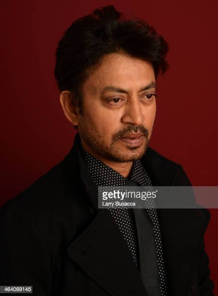 Indian actor Irrfan Khan poses for a portrait during the 2014 Sundance Film Festival at the Getty Images Portrait Studio at the Village At The Lift...