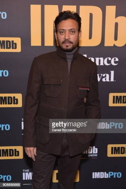 Indian actor Irrfan Khan who stars in 'Puzzle' attends The IMDb Studio and The IMDb Show on Location at The Sundance Film Festival on January 22 2018...