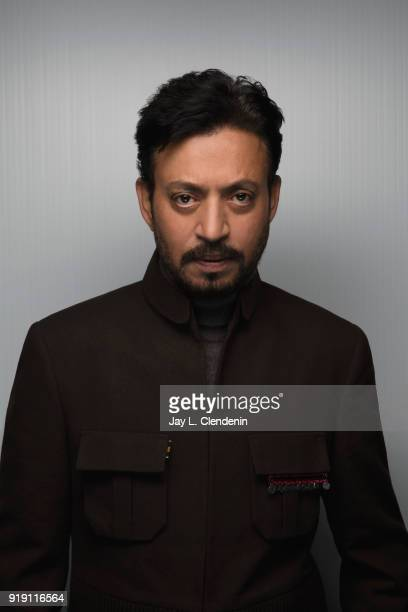 Indian actor Irrfan Khan who stars in 'Puzzle' is photographed for Los Angeles Times on January 22 2018 in the LA Times Studio at Chase Sapphire on...