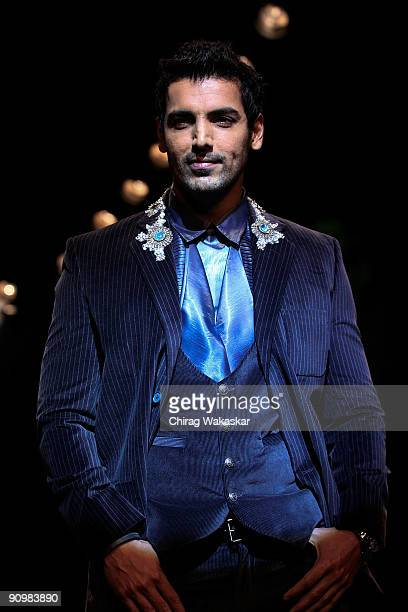 Indian actor John Abraham walks the runway at the Rocky S show at Lakme Fashion Week Spring/Summer 2010 held at Hotel Grand Hyatt on September 20...