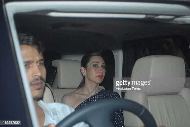 Indian actor Karishma Kapoor at the birthday party of Bollywood filmmaker Karan Johar at Manmohan Shetty's house in Juhu on May 25 2013 in Mumbai...