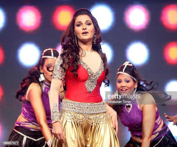 Indian actor Monica Bedi at Baisakhi Celebration cohosted by G S Bawa and Punjab Association Of India on April 13 2013 in Mumbai India